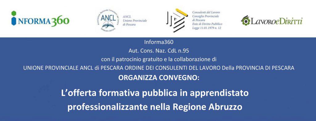 L'offerta formativa pubblica in apprendistato professionalizzante nella Regione Abruzzo