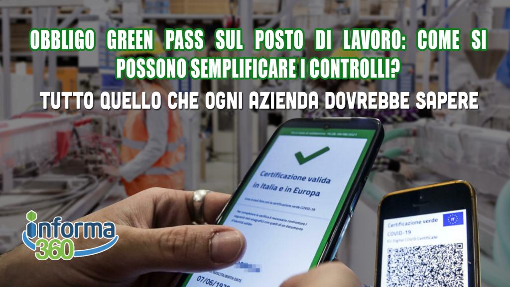 green pass sul posto di lavoro come semplificare i controlli
